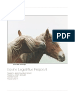 equine welfare legislative proposal- bell copy