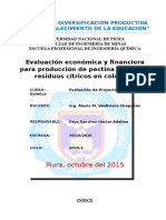 Evalucion Economica de Obtencion de Pectina- Colombia