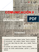Comunicación II Temario IV