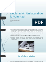 Declaración Unilateral de La Voluntad