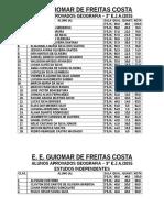 LISTA DE ALUNOS APROVADOS 3° EJA
