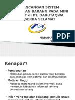 Perancangan Sistem Persediaan Barang Pada Mini Market
