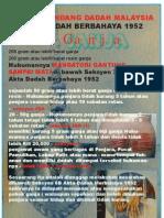 Undang - Undang Dadah Malaysia Akta Dadah Berbahaya 1952