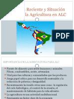 Evolución Reciente y Situación Actual de La Agricultura (1)