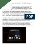 Conoce Las Aplicaciones De Android E IOS Más Populares De Noviembre