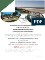 Alquiler de Bungalows en Balneario Jaureguiberry en Uruguay