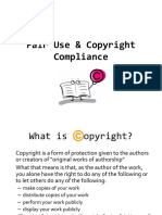fair use   copyright compliance