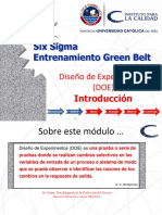 01 Improve W2 Introduction to Desing of Experiments Sp.six sigma. Improve