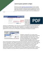 Piratage Facebook mot de passe gratuit en ligne