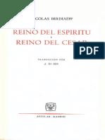 Berdiaev Nicolai - Reino Del Espiritu Y Reino Del Cesar (Aguilar)