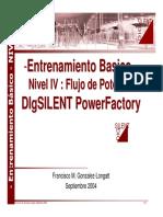 Nivel IV. Flujo de Potencia I Power Factory