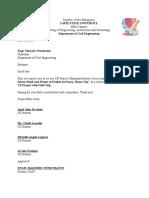 Approval Chairman & Members