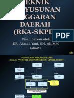 Penyusunan KUA-PPAS / RKA SKPD