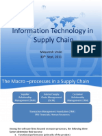 IT in Supply Chain - Class9