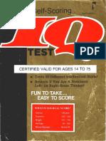 Cambridge - Self-Scoring IQ Test