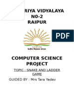 Computer science project on snake and ladder game