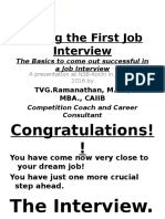NSB_Facing the First Job Interview_2016