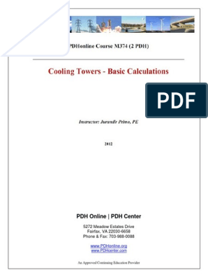 Cooling Tower Basic Calculation pdf   Humidity   Relative Humidity