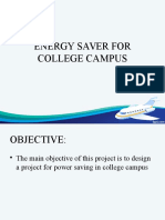 Energy Saver for College Campus