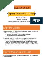 Robotic Gripper Design