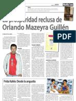 """""""La prosperidad reclusa de Orlando Mazeyra"""". Artículo, Diario Noticias 5 Abril de 2010."""