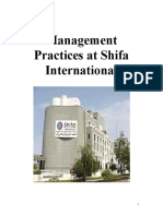 Management Practices at Shifa International Hospital