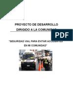 Proyecto de Desarrollo Seguridad Vial Avaance