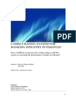 Camels Rating System for Banks in Pakistan