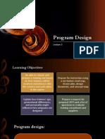 Lecture 5 - Program Design - SSM - IUNC - Spring 2015