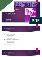 Lecture 7 - Traditional Training Methods - IUNC - SSM - Spring 2015.pdf