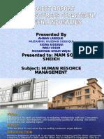 Presentation of Hrm