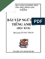 Bai Tap Ngu Phap Tieng Anh 10 HK II - Bo Nang Cao - GV Le Ngoc Thach