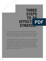 Three Steps to an Effective Strategy