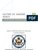 Alford vs Aarons Rents - Sexual Harassme