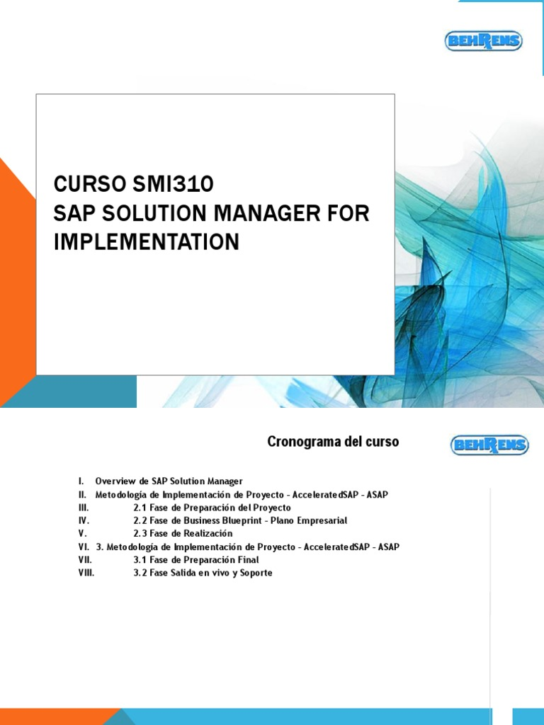 Curso sap solution manager malvernweather Choice Image