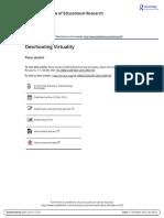 deschooling virtuality