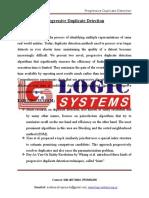 LSJ1512 - Progressive Duplicate Detection