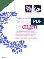 Productos Mexicanos Con Denominacion de Orígen
