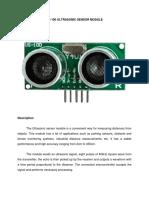 Us 100 Ultrasonic Sensor Module