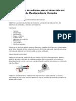 Presentacion de Modulos Para El Desarrollo Del Curso de Mantenimiento Mecanioc