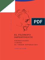 Goñi - El Filósofo Impertinente. Kierkegaard Contra El Orden Establecido