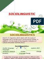 Socio Linguistic