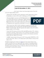 Weekly Macro Recap for December 31 2015