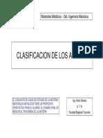 """Aceros """"Clasificación"""""""