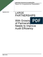 Large Partnerships - GAO, Sep. 2014