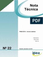 IPEA Nota Tecnica Pnad2014 - Evolução de Indicadores Sociais