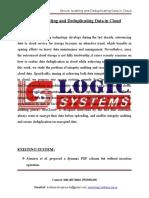LSJ1521 - Secure Auditing and Deduplicating Data in Cloud