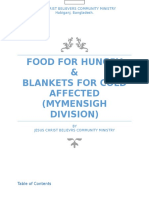 food for hungry blankets for cold affected