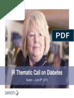 Linea Sanofi en Diabetes ADA 2015