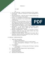 Module 1 (Metacognition)